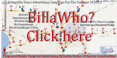 Location Points Of Billboard Outdoor Ads & Livingston Texas Online FlagPole Outdoor Advertising